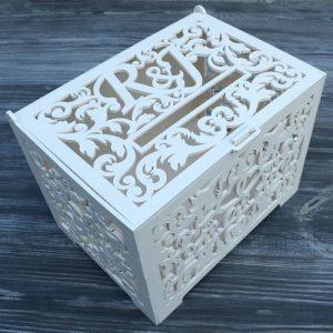 Initials Wedding Card Box
