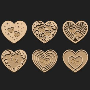 Various hearts ring holder