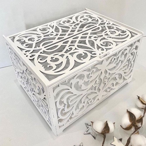 Swirl Wedding Card Box