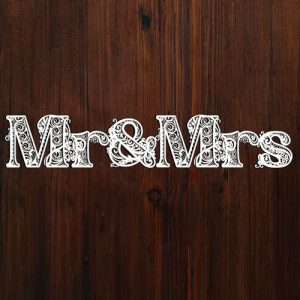 3D Mr and Mrs Sign