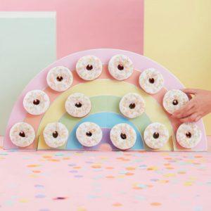 Pastel Rainbow Donut Wall